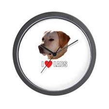 I Love Labs Wall Clock