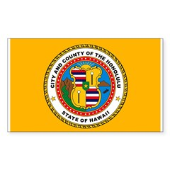 Honolulu Flag Rectangle Decal