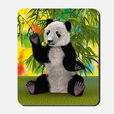 3D Rendering Panda Bear Mousepad