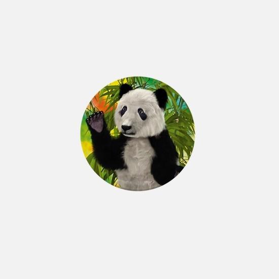 3D Rendering Panda Bear Mini Button