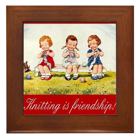 """""""Knitting"""" Framed Tile"""