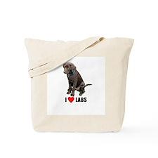 I Love Labs Tote Bag