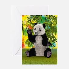 3D Rendering Panda Bear Greeting Cards