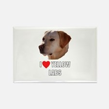 I Love Yellow Labs Rectangle Magnet