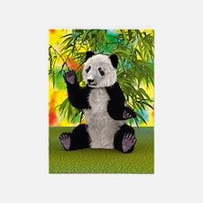 3D Rendering Panda Bear 5'x7'Area Rug