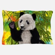 3D Rendering Panda Bear Pillow Case