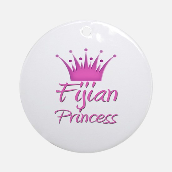 Fijian Princess Ornament (Round)