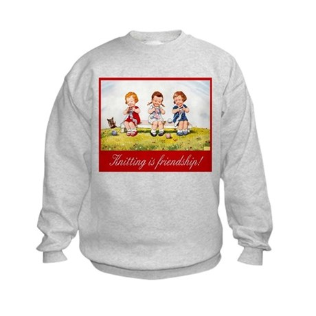 """Knitting Baby"" Kids Sweatshirt"