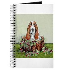 Christmas Basset Holiday Dog Journal