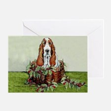Christmas Basset Holiday Dog Greeting Card