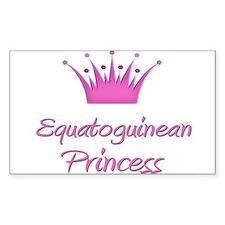 Equatoguinean Princess Rectangle Decal