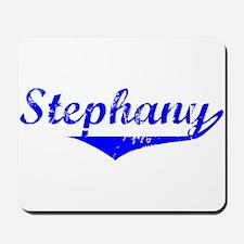 Stephany Vintage (Blue) Mousepad