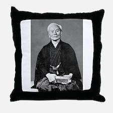 Gichin Funakoshi Throw Pillow