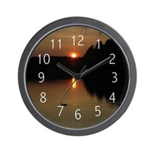 Lake Sunset Wall Clock