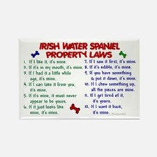 Irish Water Spaniel Property Laws 2 Rectangle Magn