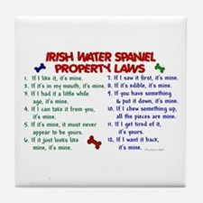 Irish Water Spaniel Property Laws 2 Tile Coaster