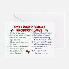 Irish Water Spaniel Property Laws 2 Greeting Card