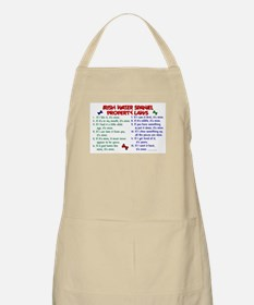Irish Water Spaniel Property Laws 2 BBQ Apron