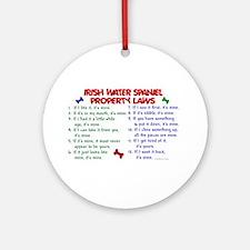 Irish Water Spaniel Property Laws 2 Ornament (Roun