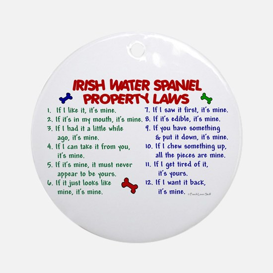 Irish Water Spaniel Property Laws 2 Ornament (Roun