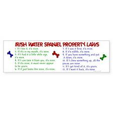 Irish Water Spaniel Property Laws 2 Bumper Sticker