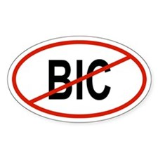 BIC Oval Decal