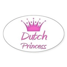 Dutch Princess Oval Stickers