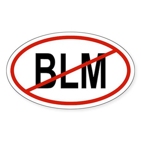 BLM Oval Sticker