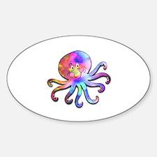 TyeDye Octopus Oval Decal