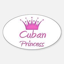 Cuban Princess Oval Decal
