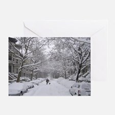 Snow on 6th St. Holiday Greeting Card
