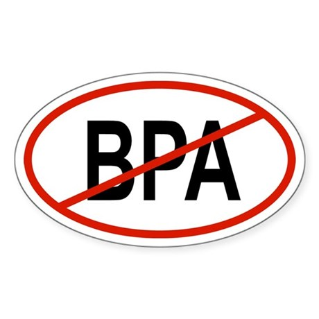 BPA Oval Sticker