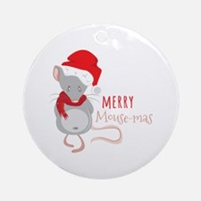Merry Mouse-mas Round Ornament