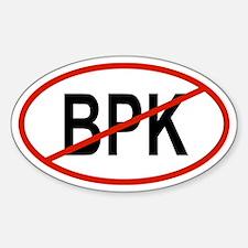 BPK Oval Decal