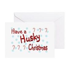 "Have a ""Husky"" Christmas Greeting Card"