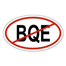 BQE Oval Bumper Stickers