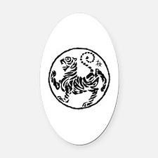 Cool Shotokan tiger Oval Car Magnet