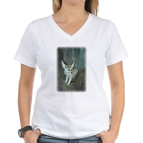 Fennec Fox Women's V-Neck T-Shirt