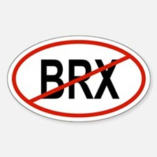 BRX Oval Decal