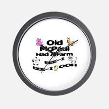 Old McPaul Had a Farm Wall Clock