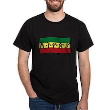ETHIOPIA -- Amharic with Flag T-Shirt