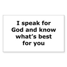 Speak for God Rectangle Decal
