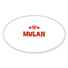 Mulan Oval Decal