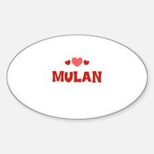 Mulan Oval Decal