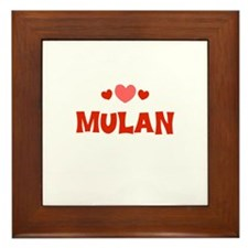 Mulan Framed Tile