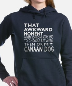 Awkward Canaan Dog Desig Women's Hooded Sweatshirt