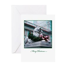 NYC Lion 3D Christmas Card
