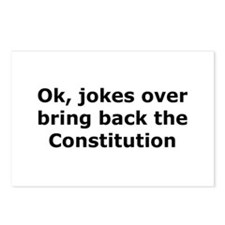 Bring back the constitution Postcards (Package of