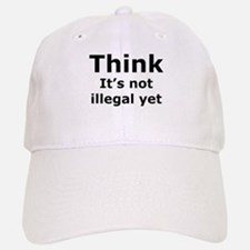 Think Baseball Baseball Cap