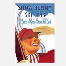 Snow Bunny Ski Club Postcards (Package of 8)